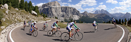 Cycling holiday in the Dolomites